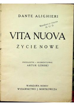 Vita Nuova życie nowe 1915 r