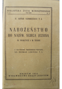 Nabożeństwo do Najśw Serca Jezusa 1933 r.