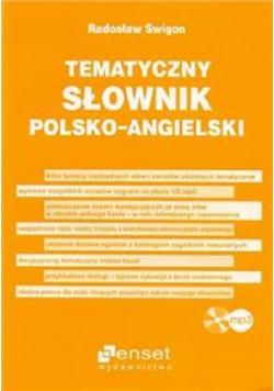 Tematyczny słownik polsko - angielski + płyta CD