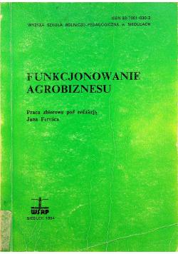 Funkcjonowanie agrobiznesu