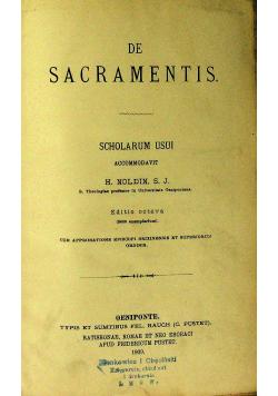 Summa Theologiae Moralis De Sacramentis 1909 r.