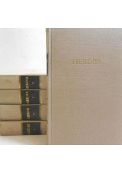 Herders Werke in fünf Bandent tom od 1 do 5