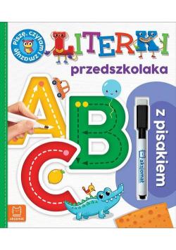 Literki przedszkolaka z pisakiem Piszę czytam i zmazuję Wydanie specjalne