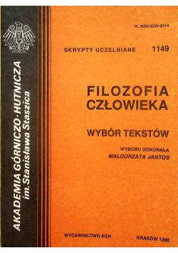 Filozofia człowieka Wybór tekstów