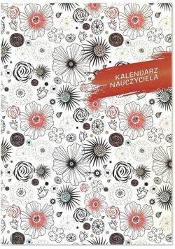 Kalendarz Nauczyciela A5 2020/2021 PCV kwiaty