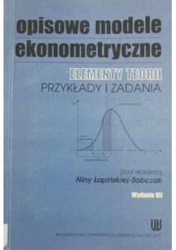 Opisowe modele ekonometryczne
