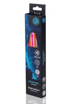 Ołówek grafitowy z gumką B (12szt) ASTRA