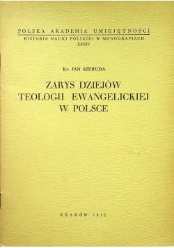 Szeruda Jan - Zarys dziejów teologii ewangelickiej w Polsce