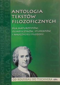 Antologia tekstów filozoficznych Część II