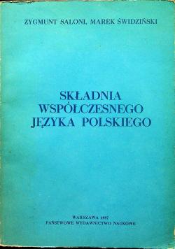 Składnia współczesnego języka polskiego