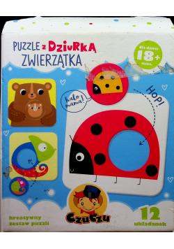 Puzzle z dziurką Zwierzątka