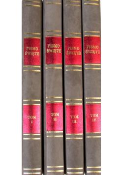 Biblia to jest Księgi Starego i Nowego Testamentu reprint z 1599 r 4 tomy