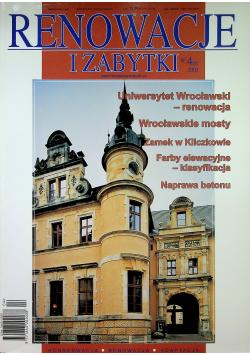 Renowacje i zabytki nr 4 Uniwersytet Wrocławski renowacja