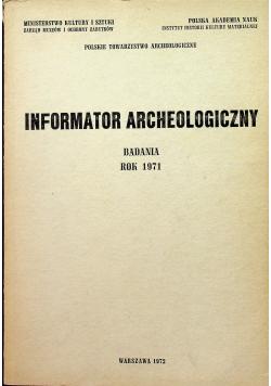 Informator archeologiczny badania 1971