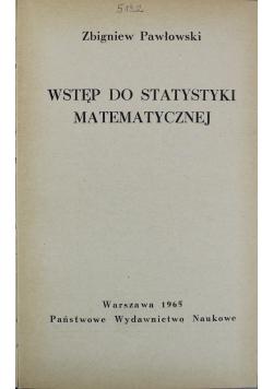 Wstęp do statystyki matematycznej