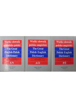 Wielki słownik angielsko polski III Tomy