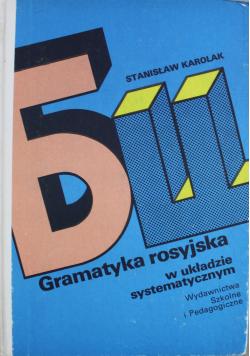 Gramatyka rosyjska w układzie systematycznym
