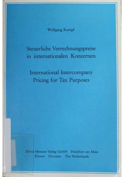 Steuerliche Verrechnungspreise in internationalen Konzernen