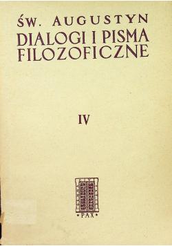 Św Augustyn Dialogi i pisma filozoficzne Tom IV