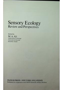 Sensory Ecology