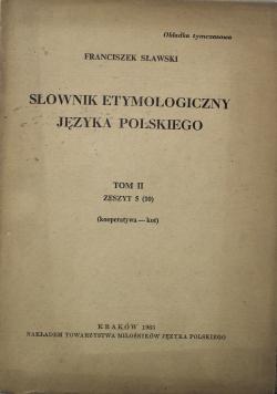Słownik etymologiczny języka polskiego Tom II Zeszyt 5