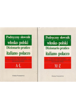 Podręczny słownik włosko polski 2Tomy