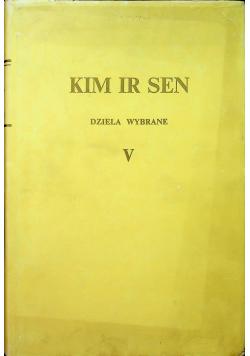 Kim Ir Sen dzieła wybrane V