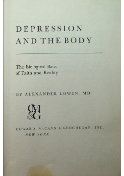 Depression and the body