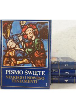Pismo Święte Starego i Nowego Testamentu Tom od I do IV
