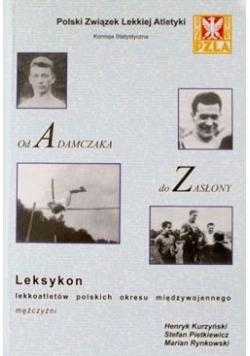 Leksykon lekkoatletów polskich okresu międzywojennego mężczyźni