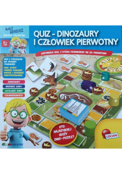 Quiz Dinozaury i człowiek pierwotny NOWA