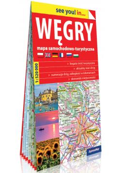Węgry papierowa mapa samochodowo-turystyczna 1:520 000