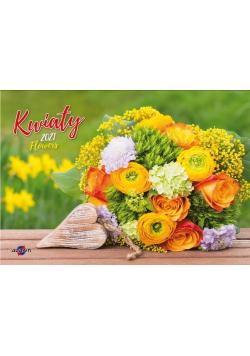 Kalendarz 2021 KA-8 Kwiaty AVANTI