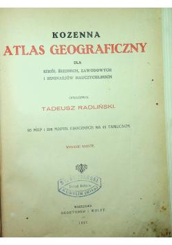 Kozenna atlas geograficzny 1927 r.
