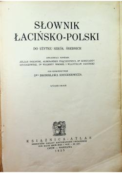 Słownik łacińsko - polski 1925 r
