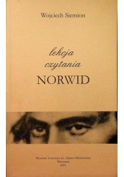 Lekcja czytania Norwid