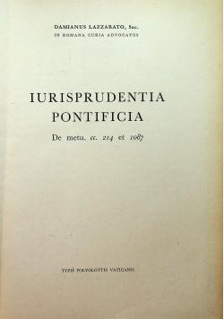 Iurisprudentia pontificia