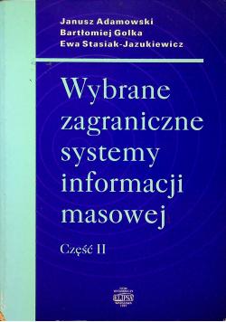 Wybrane zagraniczne systemy informacji masowej część II