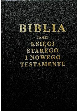 Biblia to jest księgi Starego i Nowego Testamentu