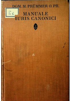 Manuale iuris canonici 1922r