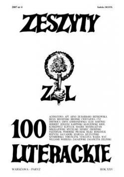 Zeszyty literackie 100 4/2007