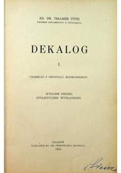 Dekalog I 1934 r