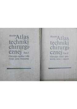 Atlas techniki chirurgicznej tom 1 i 2