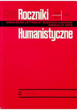Roczniki humanistyczne tom XLIV