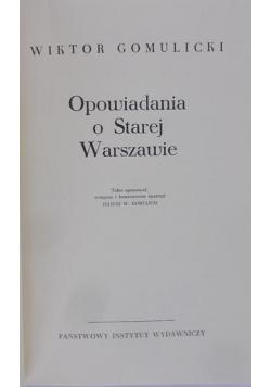 Opowiadania o Starej Warszawie