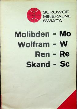 Surowce mineralne świata Molibden Mo Wolfram W Ren Re Skand Sc