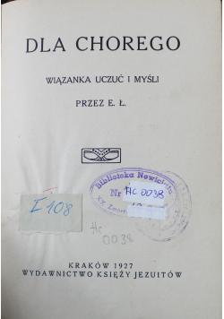 Dla chorego wiązanka uczuć i myśli 1927 r
