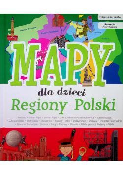 Regiony Polski Mapy dla dzieci