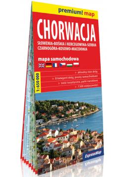 Chorwacja Słowenia, Bośnia i Hercegowina, Serbia, Czarnogóra, Kosowo, Macedonia mapa samochodowa 1:650 000