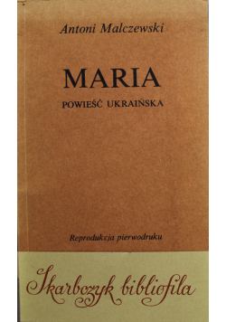 Maria powieść Ukraińska reprint z 1825 r.